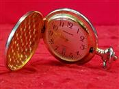 Milan Gold Tone Pocket Watch - 12 Hour Dial - Date
